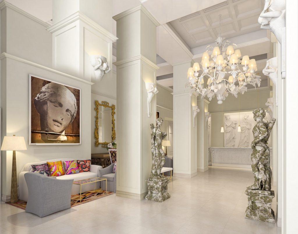 The lobby at Hotel Savoy