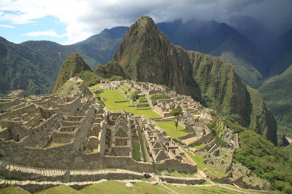 The ruins of Macchu Pichu