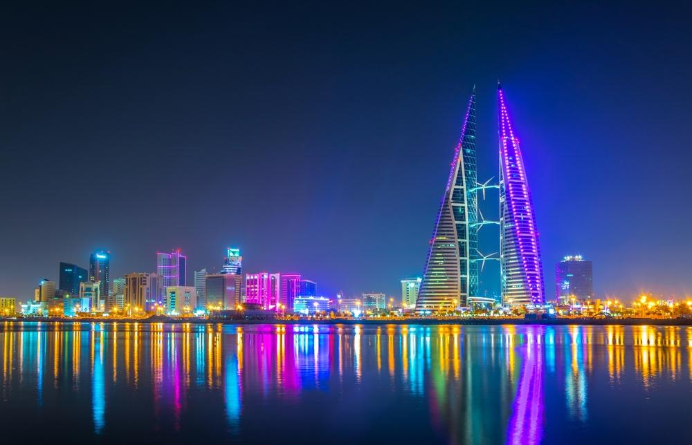 Bahrain's skyline at night