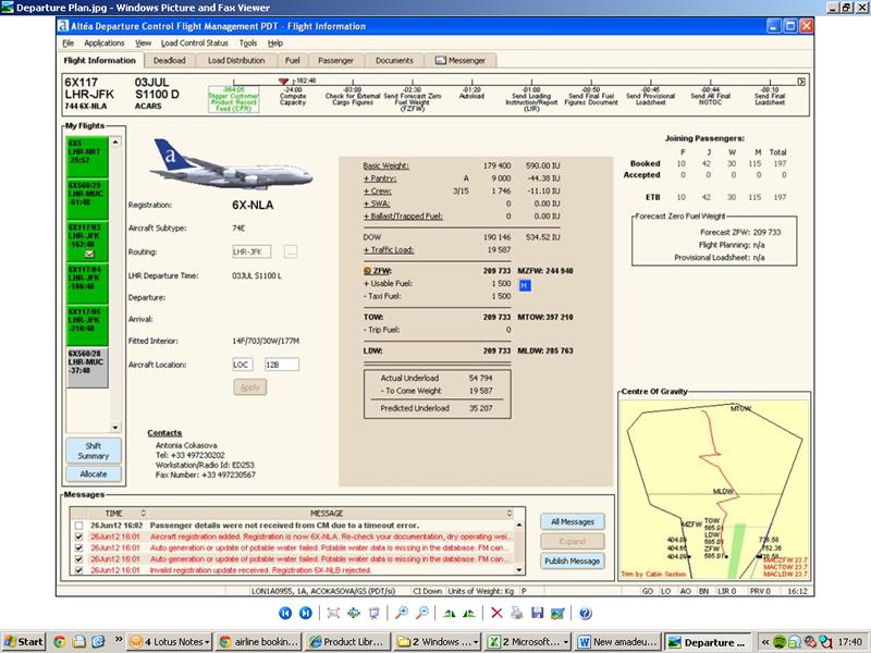 Screenshot of the Flight Information interface
