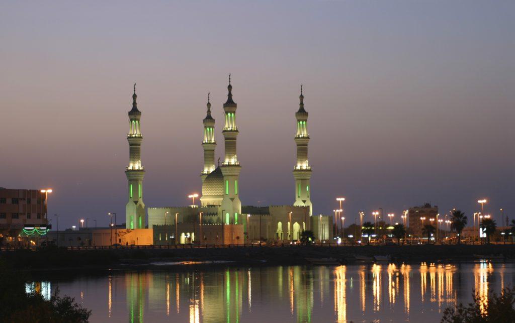 Sheikh Zayed Mosque at sunset, Ras Al Khaimah, UAE