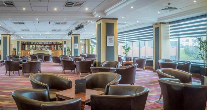 The lounge bar at Hampton by Hilton Blackpool