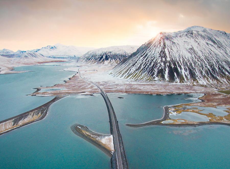 Snæfellsnes road aerial -Tom Archer Photo