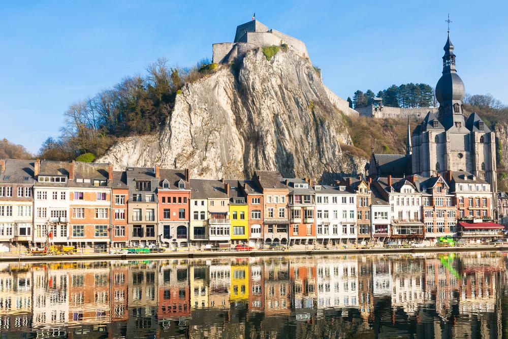Dinant in Wallonia, Belgium