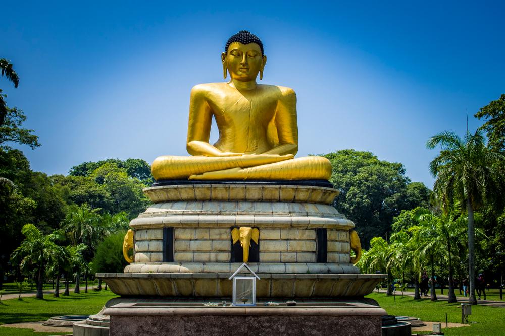 Golden Buddha in Viharamahadevi Park - InterContinental Colombo