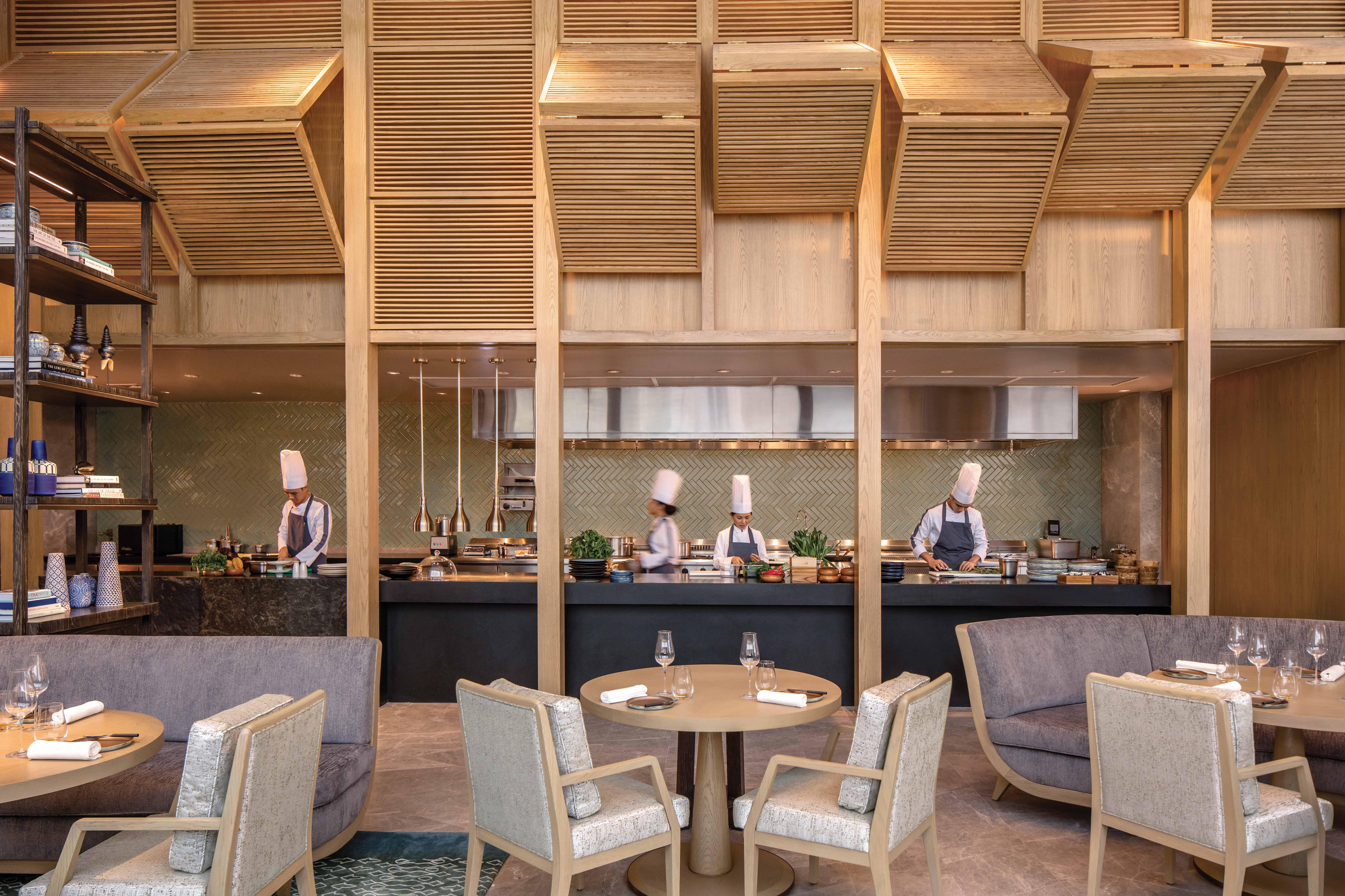 Waldorf Astoria Bangkok kitchen