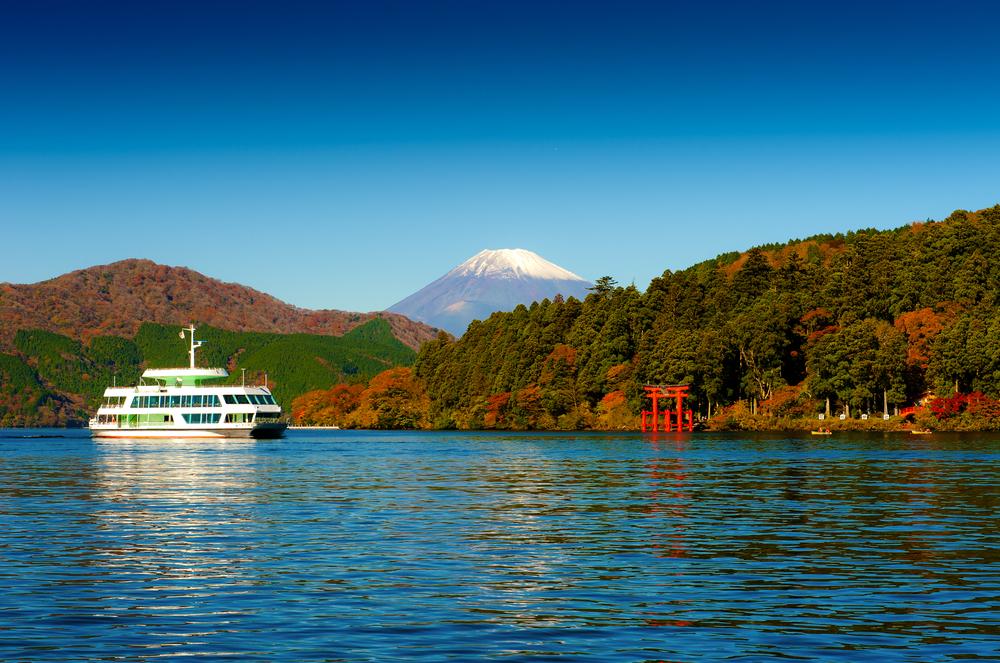 Lake Ashi in Hakone, Japan