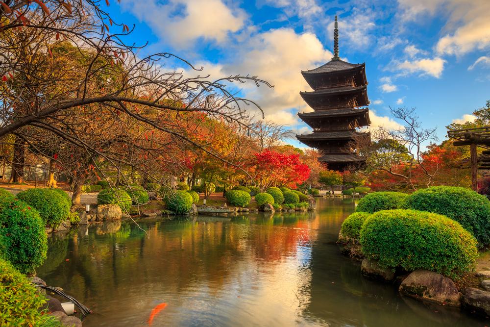 The Toji Temple in Kyoto, Japan