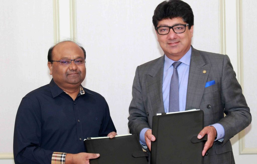 Jagadish Prasad Naik, MD, Lifeline Multi-Ventures Pvt. Ltd. and Puneet Chhatwal, MD & CEO, IHCL