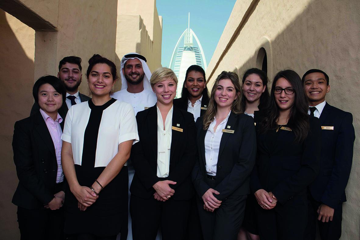 Students of Emirates Academy of Hospitality Management