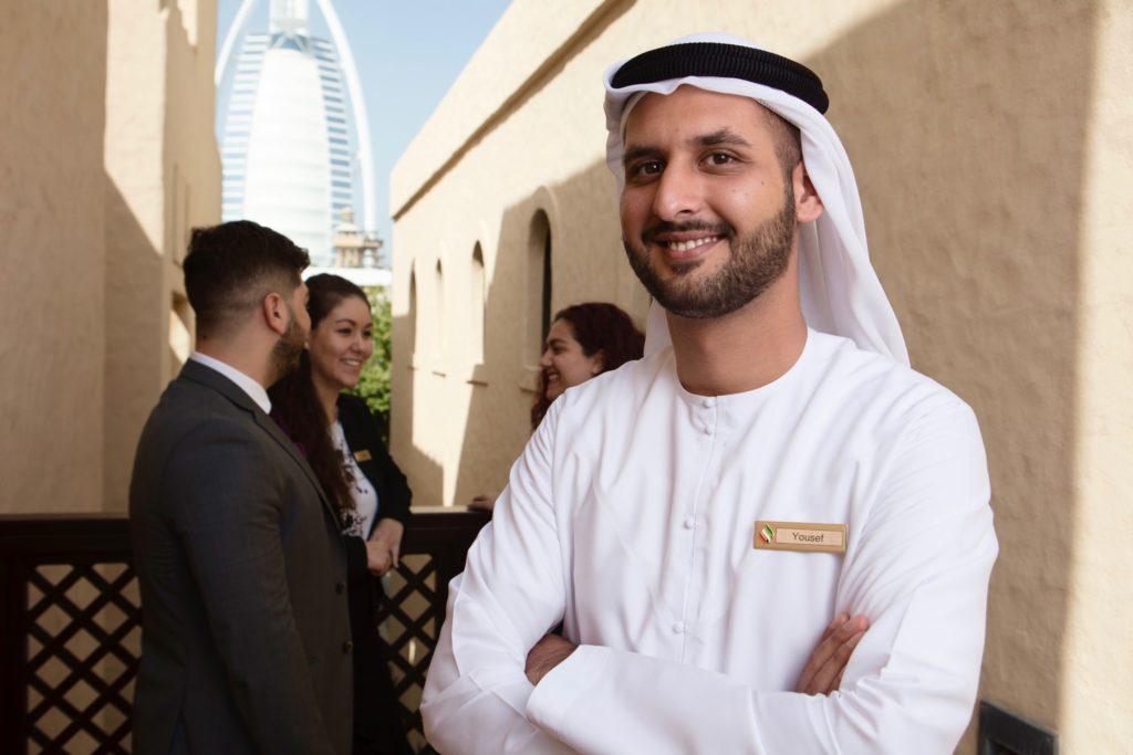 Yousef Monjazebi, an Emirati student of EAHM