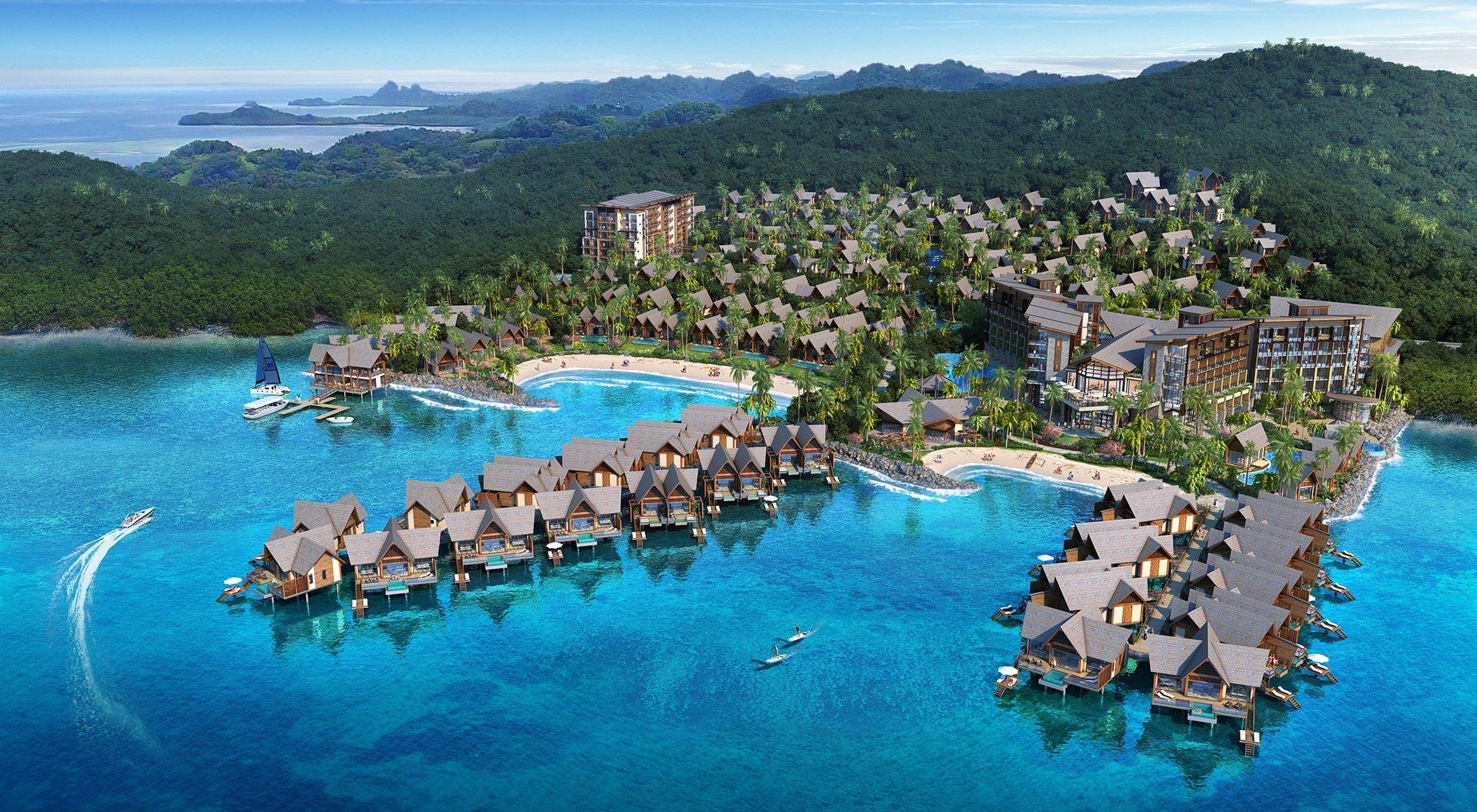 Wyndham Palau from above