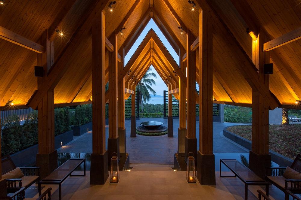 The lobby at Mantra Samui Resort