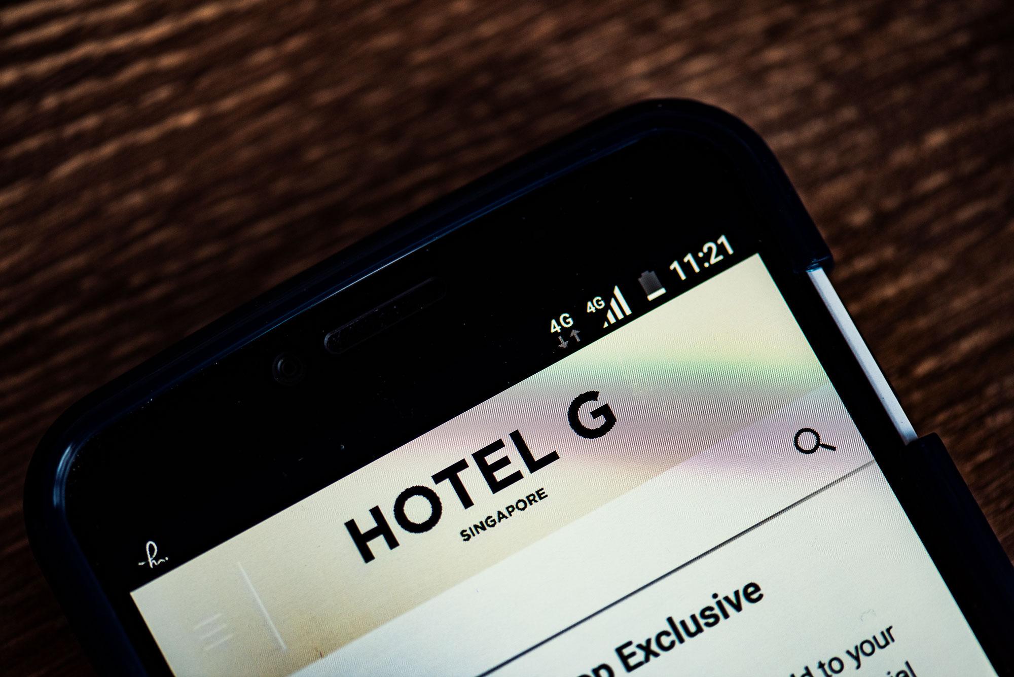 Hotel G Singapore online