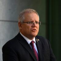 Canberra,,Australia,,September,2020,,Australia,Prime,Minister,Scott,Morrison,While